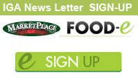 Sign Up For the MarketPlace IGA Newsletter