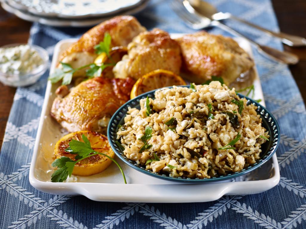 One Pot Greek Chicken Spankorizo